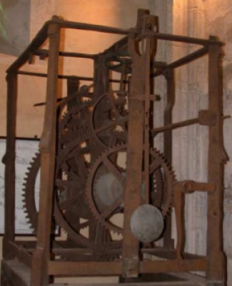 Pendulum Clock from Salisbury UK 16h Century. Wikimedia Images