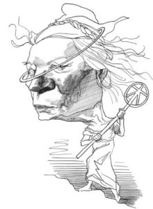 dorothy day- david levine drawing