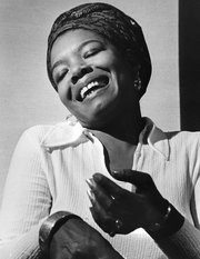 Maya Angelou in her yough
