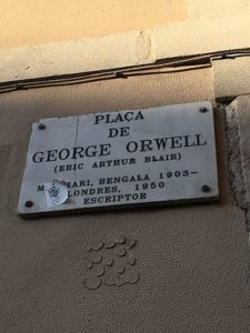 orwell 04 Placa de George Orwell in Barcelona 3 225x300